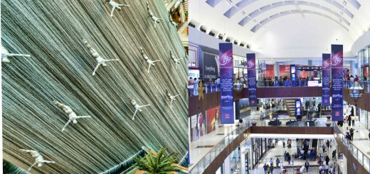 The Mall of Dubai indoor Water Fall
