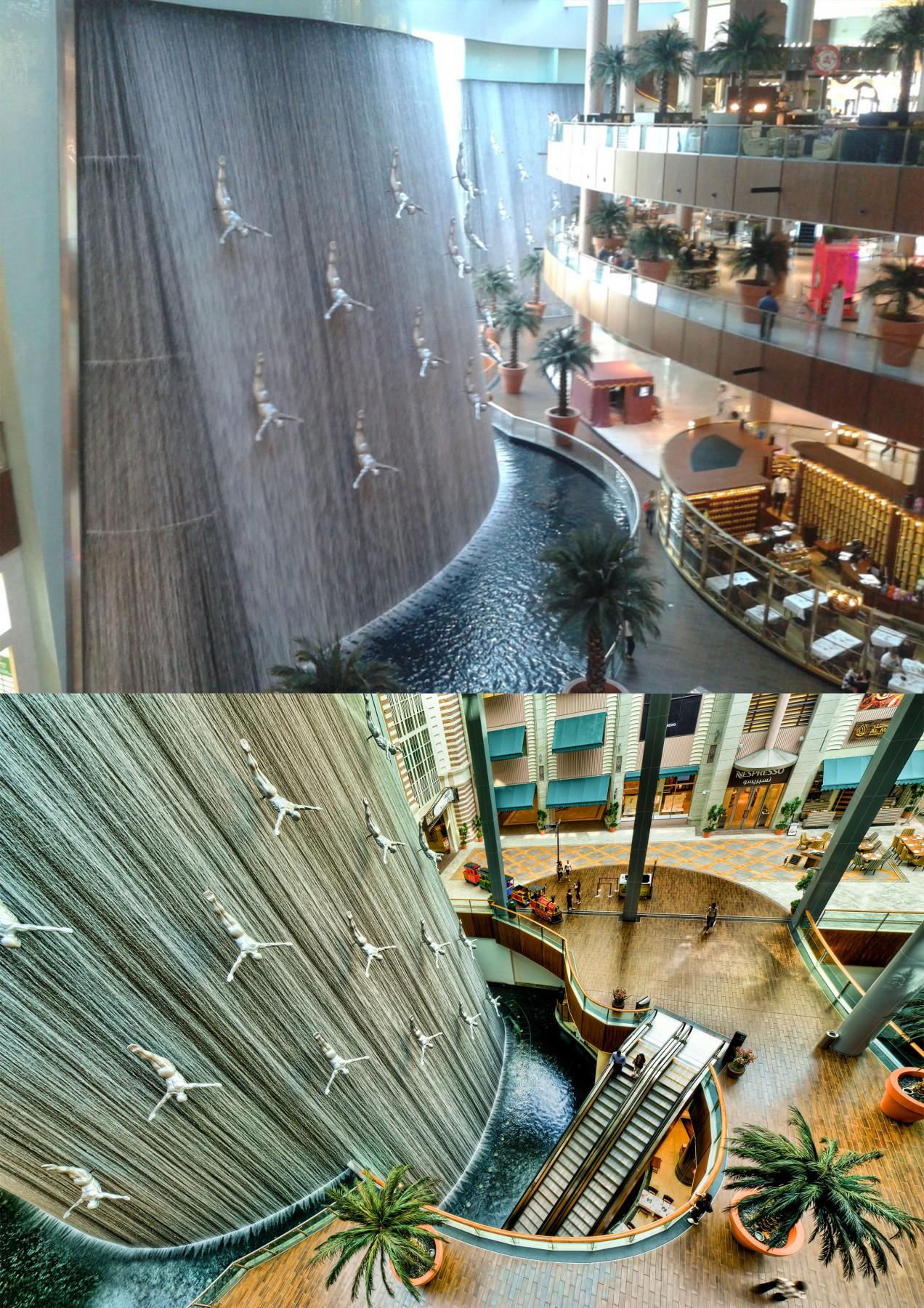 Dubai Mall Indoor Waterfall