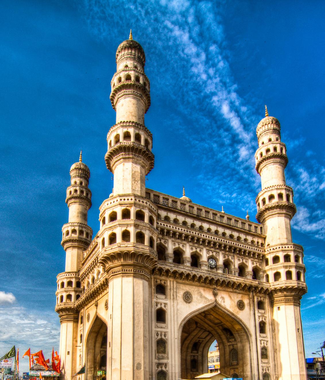 Charminar Monument And Mosque Hyderabad Telangana India