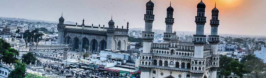 Charminar Monument And Mosque Hyderabad Telangana India