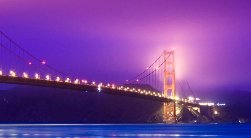 Golden Gate Bridge San Francisco and the Pacific Ocean