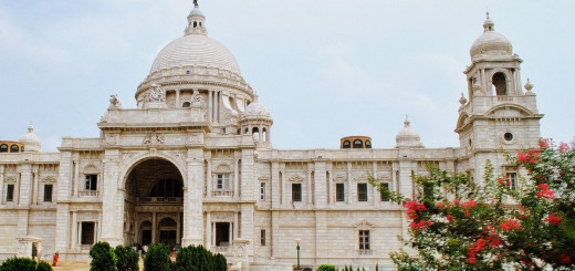 Victoria Memorial Kolkata Big Marble Building West Bengal India