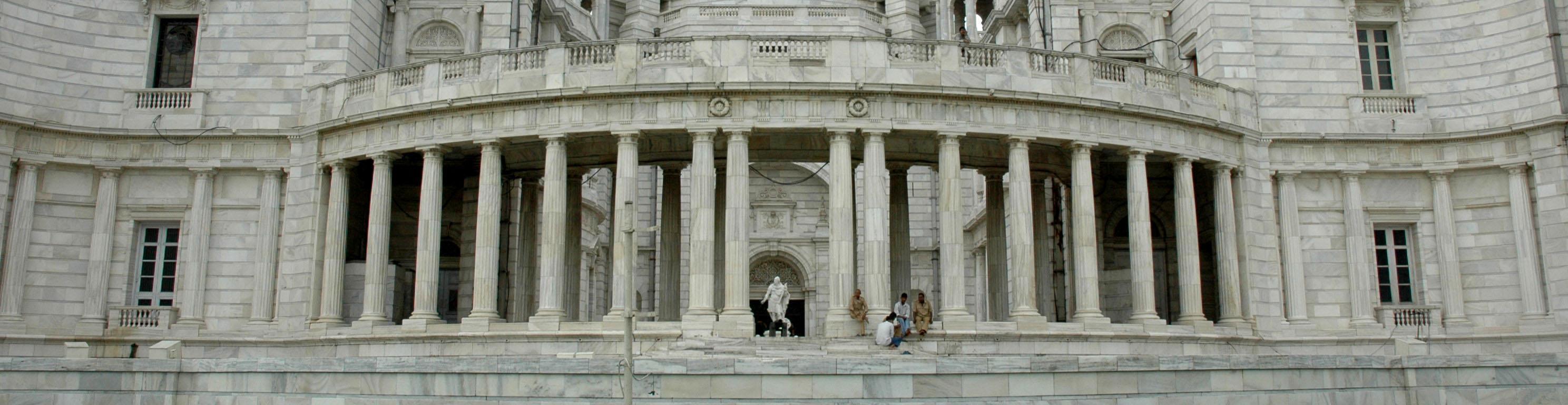 Victoria Memorial Kolkata Big Marble Building West Bengal India