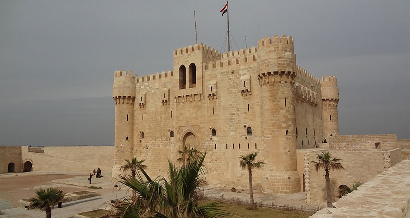 Citadel Of Qaitbay, 15th Century Defensive Fortress In Alexandria, Egypt