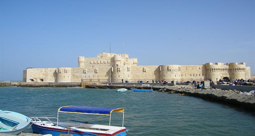 Citadel Of Qaitbay, 15th Century Defensive Fortress In Alexandria, Egypt