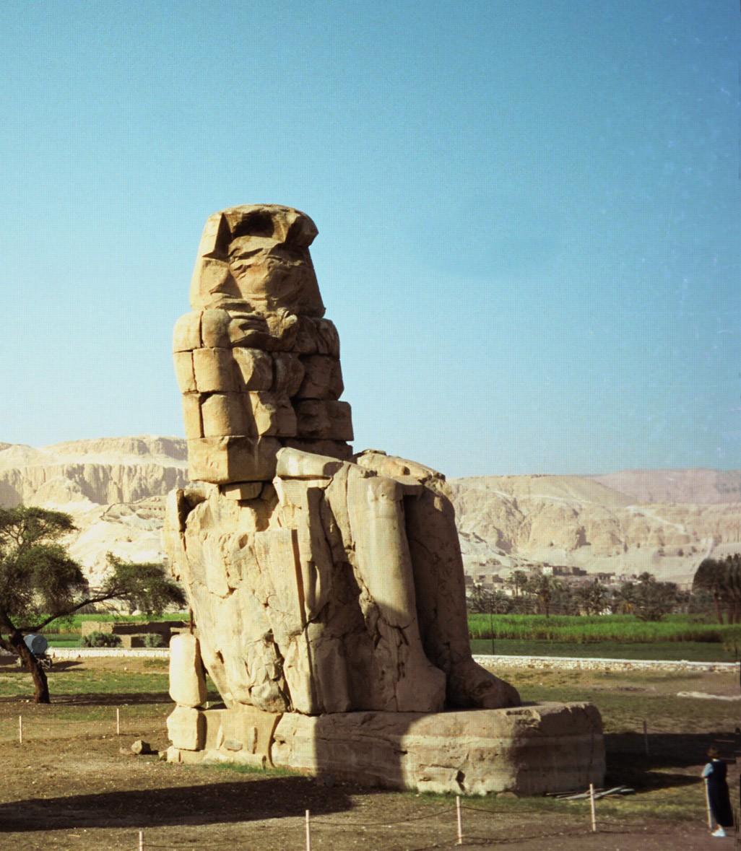 Colossi of Memnon 8 -  Two Stone Statues - Pharaoh Amenhotep III - Theban necropolis