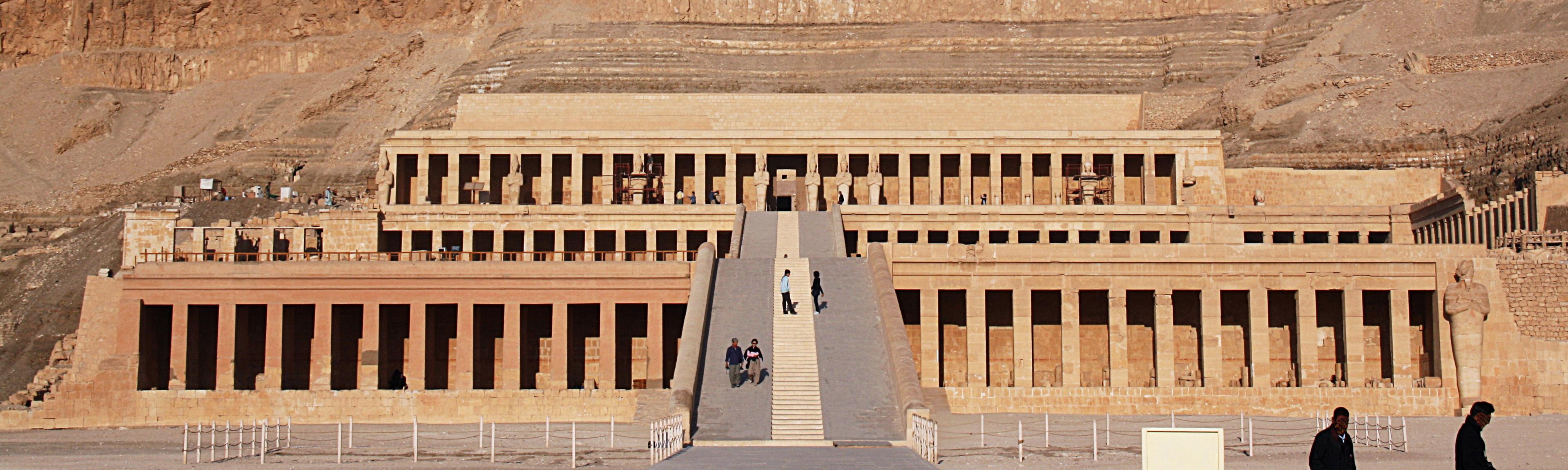 Deir el-Bahari Temples and Tombs - West Bank Of The Nile Luxor, EgyptDeir el-Bahari Temples and Tombs - West Bank Of The Nile Luxor, Egypt