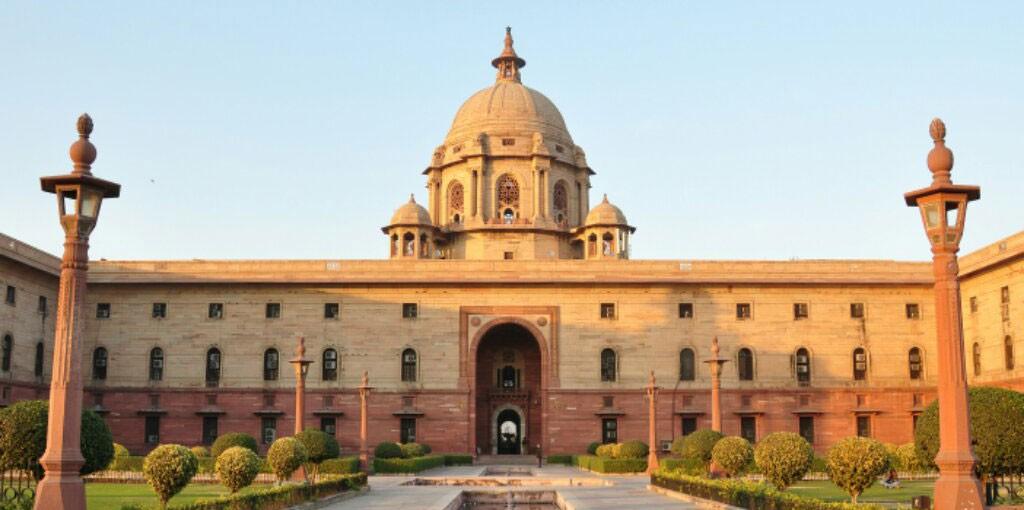 Rashtrapati bhavan or presidential residence in new delhi india