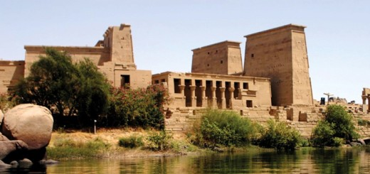 Egyptian Philae Island Aswan Low Dam and Lake Nasser, Egypt