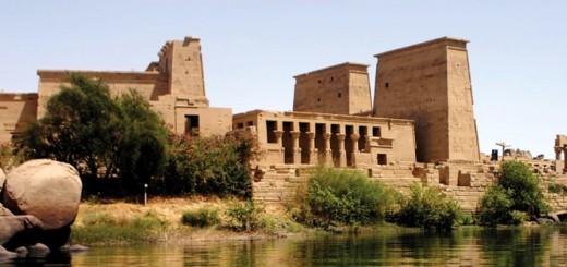 Egyptian Philae Island Aswan Low Dam and Lake Nasser, Egypt