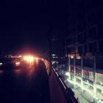 beautiful night scene on roads in lahore punjab pakistan